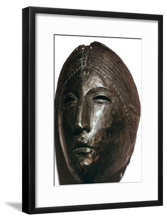 Bronze mask of the Roman goddess Juno Lucina. Artist: Unknown-Unknown-Framed Giclee Print