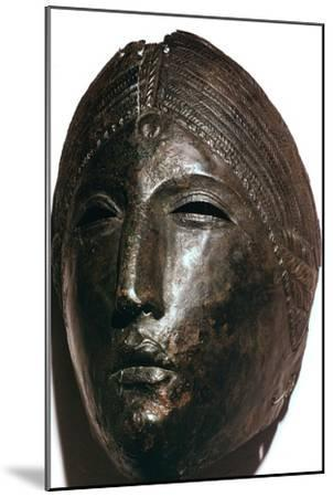 Bronze mask of the Roman goddess Juno Lucina. Artist: Unknown-Unknown-Mounted Giclee Print