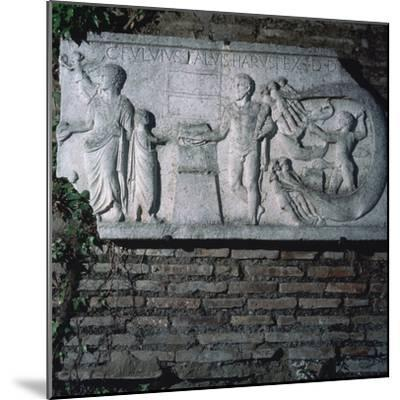 Roman relief of a haruspex, 3rd century. Artist: Unknown-Unknown-Mounted Giclee Print