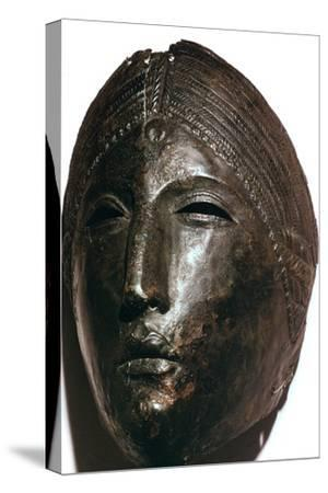 Bronze mask of the Roman goddess Juno Lucina. Artist: Unknown-Unknown-Stretched Canvas Print