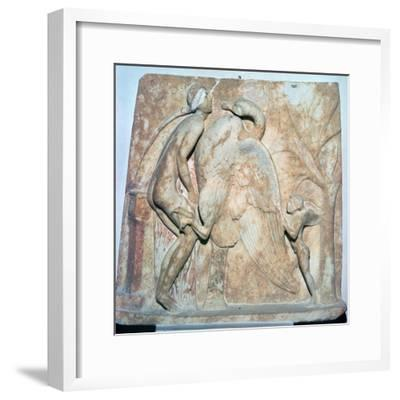 Roman relief of Leda and the Swan, 1st century. Artist: Unknown-Unknown-Framed Giclee Print