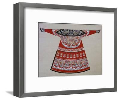Design for the embroidered court robe of a Chinese Emperor, 19th century. Artist: Unknown-Unknown-Framed Giclee Print