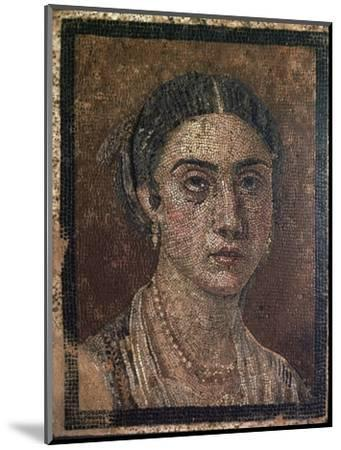 Portrait of a woman from a Roman floor mosaic, 1st century. Artist: Unknown-Unknown-Mounted Giclee Print