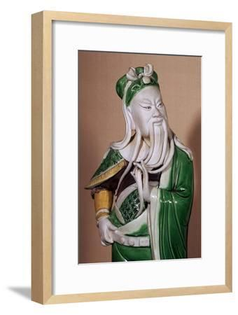 Chinese statuette of the god Kuan-ti, 17th century. Artist: Unknown-Unknown-Framed Giclee Print