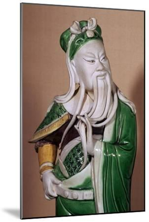 Chinese statuette of the god Kuan-ti, 17th century. Artist: Unknown-Unknown-Mounted Giclee Print