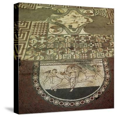 Mosaic pavement of a Roman villa, 2nd century. Artist: Unknown-Unknown-Stretched Canvas Print