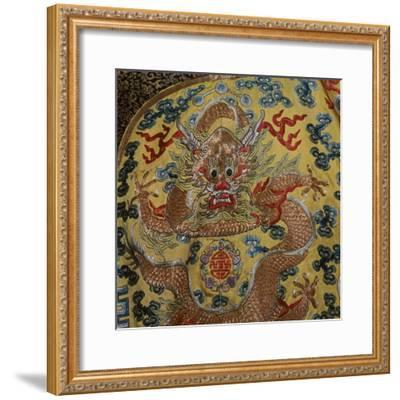 Detail from Chinese Emperor's court robe, 19th century. Artist: Unknown-Unknown-Framed Giclee Print