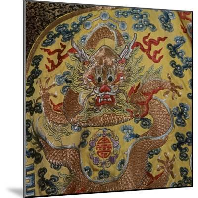 Detail from Chinese Emperor's court robe, 19th century. Artist: Unknown-Unknown-Mounted Giclee Print