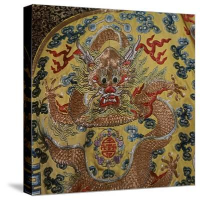 Detail from Chinese Emperor's court robe, 19th century. Artist: Unknown-Unknown-Stretched Canvas Print