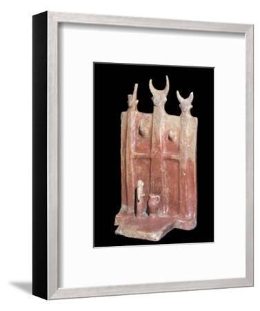 Terracotta model of a shrine, from Cyprus. Artist: Unknown-Unknown-Framed Giclee Print