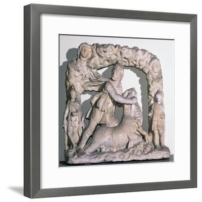 Roman statuette of Mithras slaying the bull, 3rd century. Artist: Unknown-Unknown-Framed Giclee Print