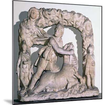 Roman statuette of Mithras slaying the bull, 3rd century. Artist: Unknown-Unknown-Mounted Giclee Print