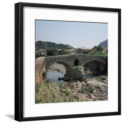 A Roman bridge in Majorca, 2nd century. Artist: Unknown-Unknown-Framed Photographic Print