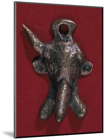 Roman bronze phallic amulet, 2nd century. Artist: Unknown-Unknown-Mounted Giclee Print