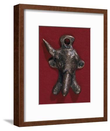 Roman bronze phallic amulet, 2nd century. Artist: Unknown-Unknown-Framed Giclee Print