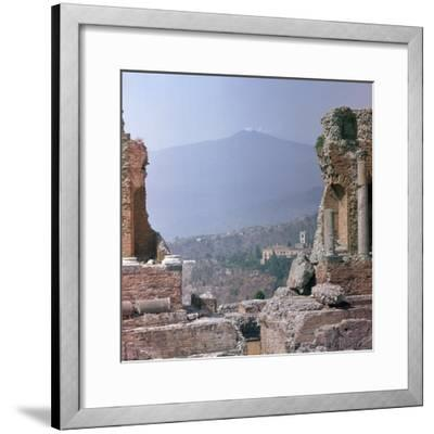 Ancient Greek theatre in Sicily, 1st century. Artist: Unknown-Unknown-Framed Photographic Print
