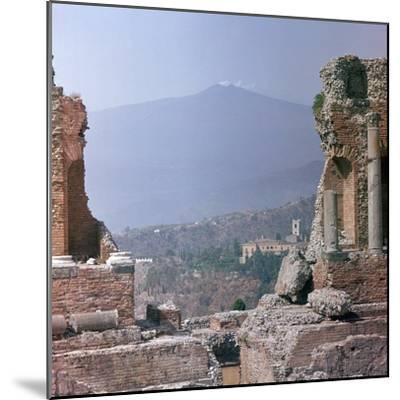 Ancient Greek theatre in Sicily, 1st century. Artist: Unknown-Unknown-Mounted Photographic Print