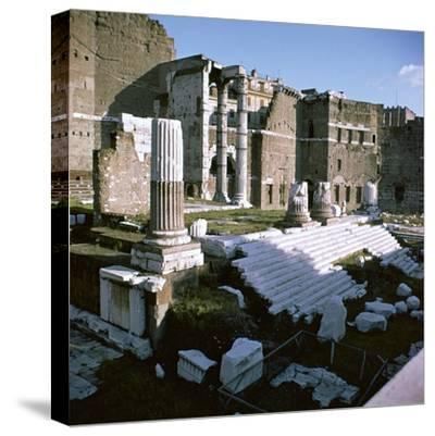 Temple of Mars Utor in Rome, 1st century. Artist: Unknown-Unknown-Stretched Canvas Print