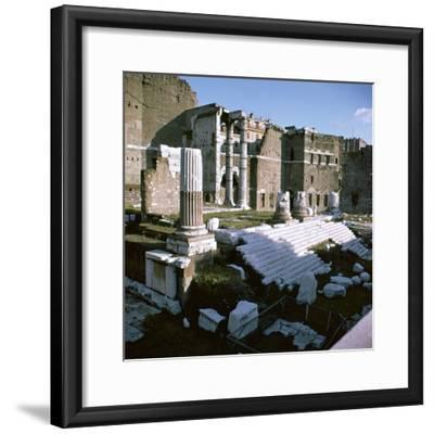 Temple of Mars Utor in Rome, 1st century. Artist: Unknown-Unknown-Framed Photographic Print