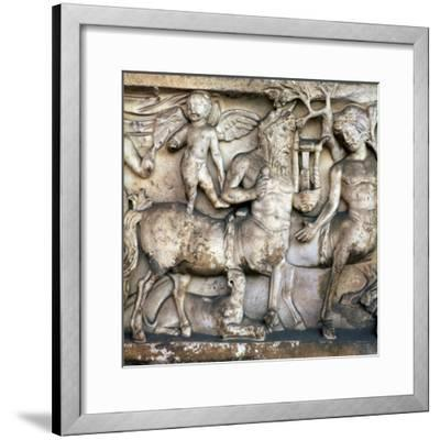 Roman depiction of a centaur in a Bacchic procession, 2nd century. Artist: Unknown-Unknown-Framed Giclee Print