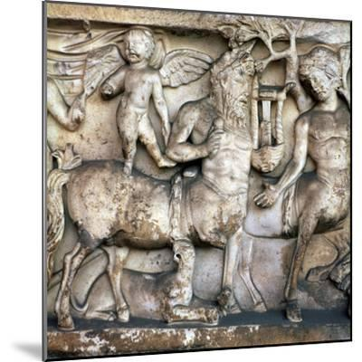 Roman depiction of a centaur in a Bacchic procession, 2nd century. Artist: Unknown-Unknown-Mounted Giclee Print