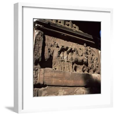 Detail of the arch of the Emperor Titus. Artist: Unknown-Unknown-Framed Photographic Print