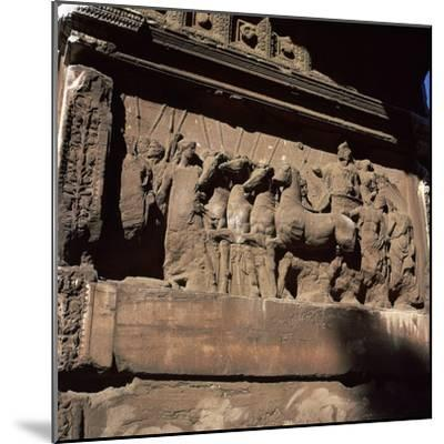 Detail of the arch of the Emperor Titus. Artist: Unknown-Unknown-Mounted Photographic Print
