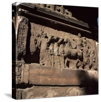 Detail of the arch of the Emperor Titus. Artist: Unknown-Unknown-Stretched Canvas Print