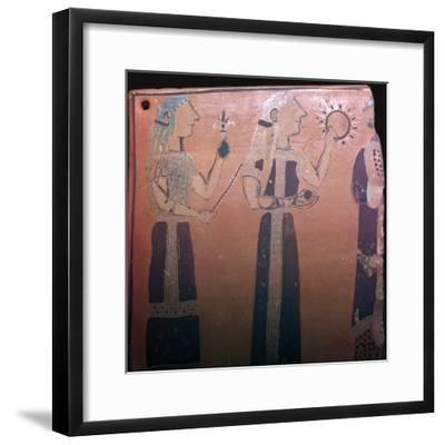 Detail from a Greek pot showing various deities, 7th century BC. Artist: Unknown-Unknown-Framed Giclee Print