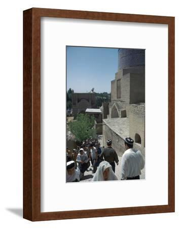 Shah-I Zindeh group of mausoleums, 14th century. Artist: Unknown-Unknown-Framed Photographic Print