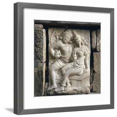 Relief of 'lovers' at Isurumuni in Sri Lanka, 4th century. Artist: Unknown-Unknown-Framed Giclee Print