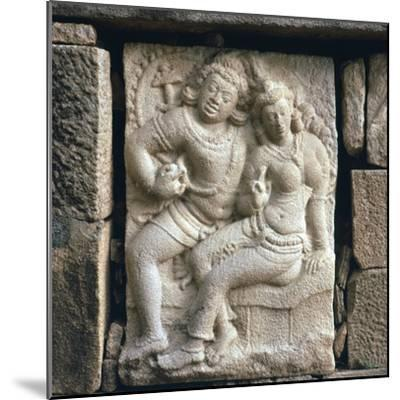 Relief of 'lovers' at Isurumuni in Sri Lanka, 4th century. Artist: Unknown-Unknown-Mounted Giclee Print