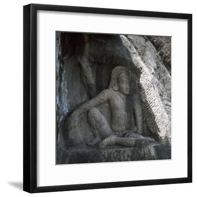 Sri Lankan carving of Anuradhapura Parjanya and his horse Agni, 6th century. Artist: Unknown-Unknown-Framed Giclee Print