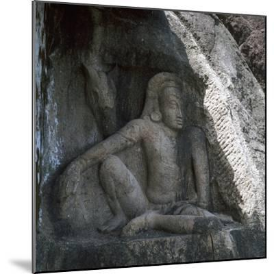 Sri Lankan carving of Anuradhapura Parjanya and his horse Agni, 6th century. Artist: Unknown-Unknown-Mounted Giclee Print