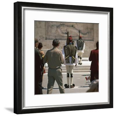 Shot of the Ezvones at the Tomb of the Unknown Soldier. Artist: Unknown-Unknown-Framed Photographic Print