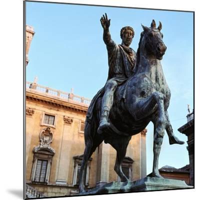 Equestrian statue of Marcus Aurelius, 2nd century. Artist: Unknown-Unknown-Mounted Giclee Print