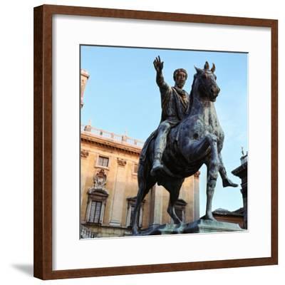 Equestrian statue of Marcus Aurelius, 2nd century. Artist: Unknown-Unknown-Framed Giclee Print