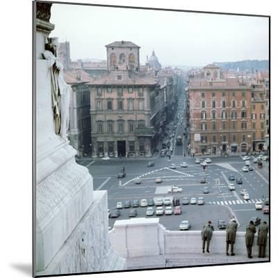 Piazza Venezia from monument of Victor Emmanuel II of Italy, 19th century Artist: Unknown-Unknown-Mounted Photographic Print