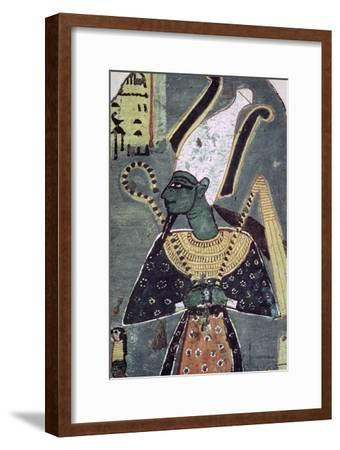 Wall painting of Osiris Khenti-Amentiu, from a tomb at Thebes. Artist: Unknown-Unknown-Framed Giclee Print