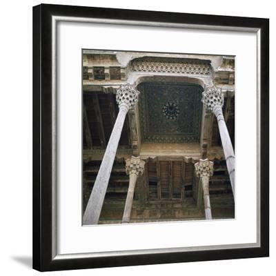 Mosque with wooden columns, 18th century. Artist: Unknown-Unknown-Framed Photographic Print