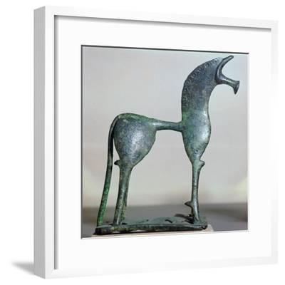 Archaic bronze figure of a horse, 6th century BC. Artist: Unknown-Unknown-Framed Giclee Print