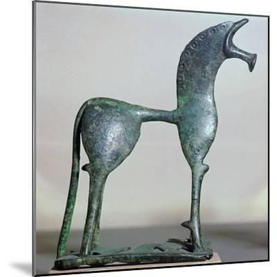 Archaic bronze figure of a horse, 6th century BC. Artist: Unknown-Unknown-Mounted Giclee Print