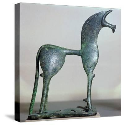 Archaic bronze figure of a horse, 6th century BC. Artist: Unknown-Unknown-Stretched Canvas Print