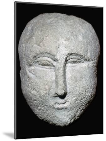 Stone ex-voto Roman head. Artist: Unknown-Unknown-Mounted Giclee Print