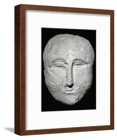 Stone ex-voto Roman head. Artist: Unknown-Unknown-Framed Giclee Print