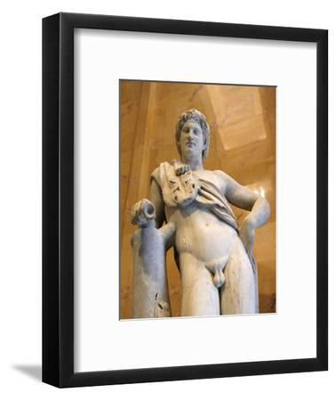 Statue of a resting satyr. Artist: Unknown-Unknown-Framed Giclee Print
