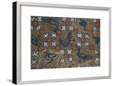 Roof mosaic of peacocks and other birds, 6th century. Artist: Unknown-Unknown-Framed Giclee Print