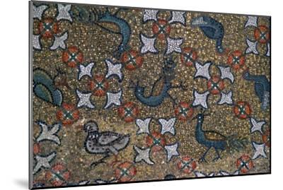 Roof mosaic of peacocks and other birds, 6th century. Artist: Unknown-Unknown-Mounted Giclee Print