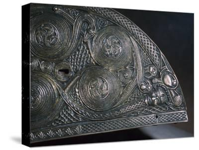 Detail of a Celtic reliquary, 8th century. Artist: Unknown-Unknown-Stretched Canvas Print