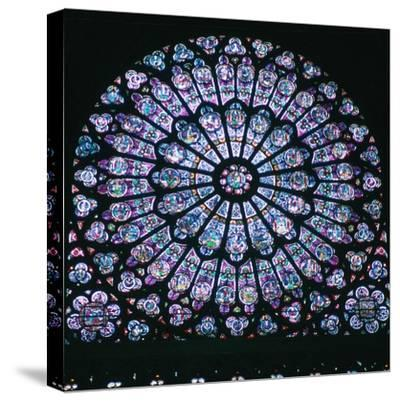 Rose window in Notre Dame, 14th century. Artist: Unknown-Unknown-Stretched Canvas Print